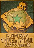 Vintage linguistik die 1913Welt Esperanto Kongress in