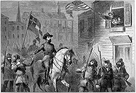 Barbara Frietschie /N(1766-1862). American Patriot. Mrs. Barbara Frietschie Waving The