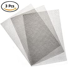 TIMESETL 3pcs Stainless Steel Woven Wire Mesh Rodent Proof Metal Mesh Sheet 1mm Hole Great For Airbricks - A4 (210 x 300mm)