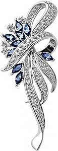 Merdia Creato Cristallo Fantasia Vintage Spilla Stile Per Le Donne Pin, Le Ragazze, Le Donne, Il Colore Blu
