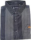 AA' Southbay Men's Black Stripes 100% Co...