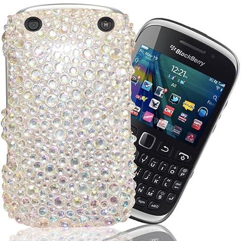 Gadget Giant Blackberry Curve 9320Argenté Diamant Brillant perle strass Bling Coque & Lot de 3films protecteurs d'écran LCD