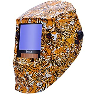 Antra AH7-X30P-7332 Digital Controlled Solar Powered Auto Darkening Welding Helmet Wide Shade 4/5-8/9-13 With Grinding Feature Extra Lens Covers Great for TIG, MIG, MMA, Plasma