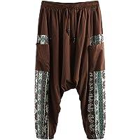Unisex Harem Pants in With Pocket Mens Harem Pants Baggy Bloomers Yoga Dance Beach Pants Plus Size Casual Trousers Harem…