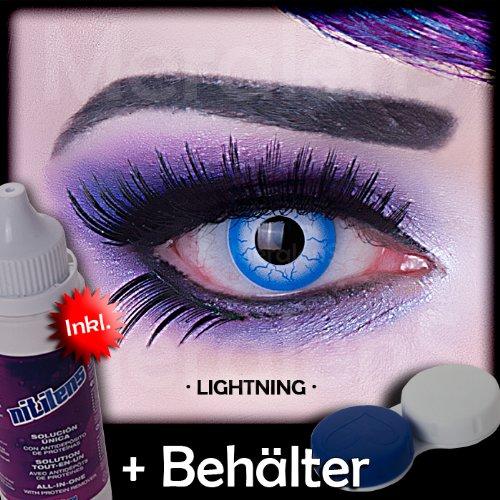 Meralens A0491 Lightening Kontaktlinsen mit Pflegemittel mit Behälter ohne Stärke, 1er Pack (1 x 2 Stück)