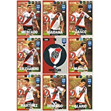 Panini FIFA 365 Adrenalyn XL 2017 River Plate Logo Badge and Team Mates Trading Cards