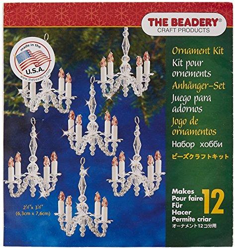Beadery Kunststoff Holiday Perlen Ornament Kit Weihnachten Kronleuchter macht 12 (Ornament Craft Perlen)