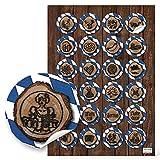 24 runde blau weiß karierte BAYERN Aufkleber - bayerische Sticker Dirndl Tracht Bier Lederhose Herz Bayernaufkleber Oktoberfest Souvenir Etiketten Verpackung Gastgeschenke give-away Geschenke