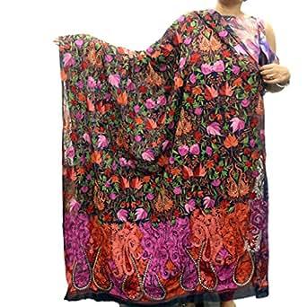 Multicolor Cotton Kashmiri Shawl/Odhani