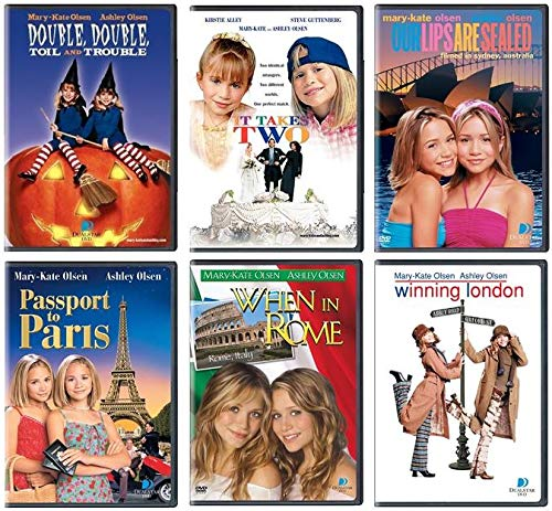 Mary-Kate und Ashley Olsen DVD 6er Pack Double Double Toil and Trouble / It Takes Two / Our Lips are Sealed / Pass to Paris / When in Rom / Winning London