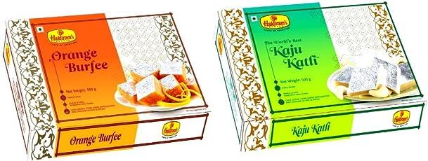Haldiram's Nagpur Kaju Katli and Orange Burfee Combo, 1000g