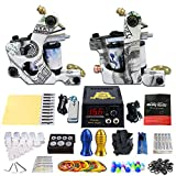 Solong Tattoo Profi Tattoomaschine Set 2 Tattoo Maschine Guns Nadel Tattoo maschine Set Kit TK202-17