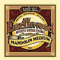 Ernie Ball Earthwood Mandolin Cuerdas para guitarra acústica de bronce medio 80/20-10-36 Calibre