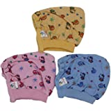KILKARIYAA Tinycare Baby Boy's and Baby Girl's Printed Cap (Multicolour) - Pack of 3