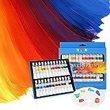 LOETAD Ölfarben Acrylfarben Ölfarbset 24 Farben je 12ml Hochwertig und Nicht-toxisch Perfekt Zum Bemalen von Leinwänd