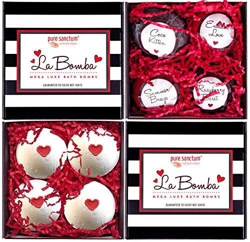 Bath Bombs Gift Set Luxury Bath Fizzies 4 Ultra Large Size 175g Natural Bath Balls La Bomba