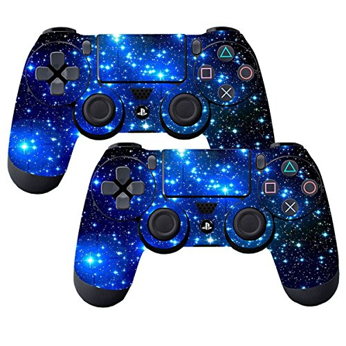 Elton PS4 Controller Designer 3M Skin for Sony PlayStation 4 , PS4 Slim , Ps4 Pro DualShock Remote Wireless Controller - Shinny Blue , Skin for One Controller Only