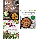 keto slow cooker & one-pot meals, quick keto meals in 30 minutes or less and the ketodiet cookbook 3 books collection set - over 100 simple & delicious low-carb, paleo and primal recipes for weight loss, 100 easy prep-and-cook low-carb recipes for maximum weight loss and improved health, more than 150 delicious low-carb, high-fat recipes for maximum weight loss and improved health
