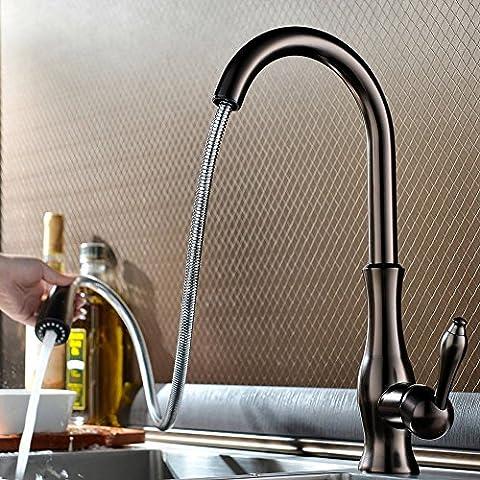 jiayoujia monoblocco miscelatore da cucina con doccetta estraibile Oil Rubbed Bronze
