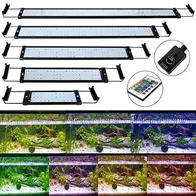 GreenSun Éclairage pour Aquariophilie LED Ampoule Aquarium Lampe Extensibles Avec Plug EU éclairage pour aquarium poissons Lampe sous l'eau AC100-240V