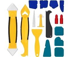 Raschietto Silicone 16pcs Spatole Silicone Sigillante, Professionale Strumento di Calafataggio per Stanze da Cucina Bagno Pav