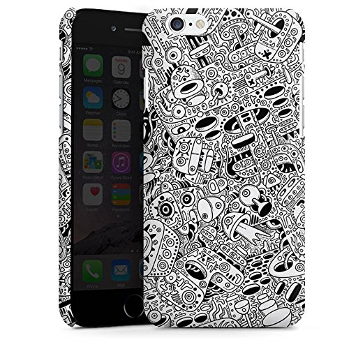 Apple iPhone X Silikon Hülle Case Schutzhülle Schwarz Weiß Muster Chaos Premium Case matt