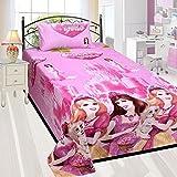 Barbie Princess Kids Cartoon Single Beds...
