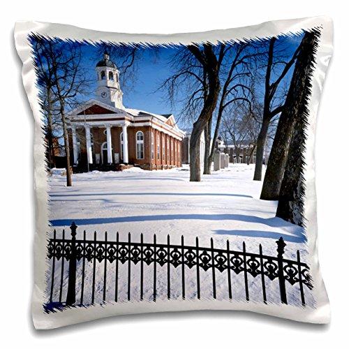 Danita Delimont - Charles Gurche - Courthouse - USA, Virginia, Leesburg, Loudoun County Courthouse. - 16x16 inch Pillow Case (pc_189697_1)