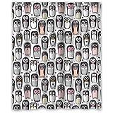 """Generisches neu Mode Brauch Design Nette Pinguin- wasserdicht Polyester Stoff Badezimmer Duschvorhang 60"""" x 72"""""""
