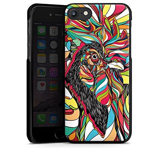 Apple iPhone X Silikon Hülle Case Schutzhülle Hahn Bunt Vogel Hard Case schwarz