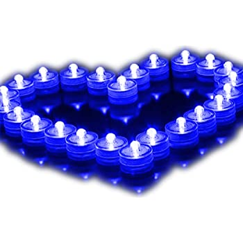Batteries Included Pack of 6 SmartLight/™ Blue Flameless LED Tea Light Steady Candles Tealights