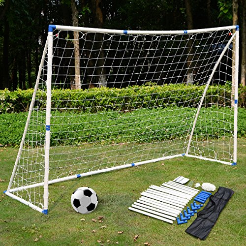 GYMAX 27'' Soccer Football Table Top Kids Family Foosball Game Toy Set Wooden Frame