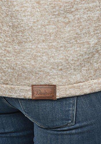 DESIRES Thory Damen Fleecejacke Sweatjacke Jacke Mit Kapuze Und Daumenlöcher, Größe:XXL, Farbe:Dune (5409) - 4