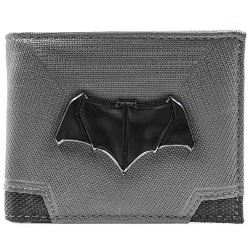 Cartera de DC Comics Batman Superman Bat Emblema Gris