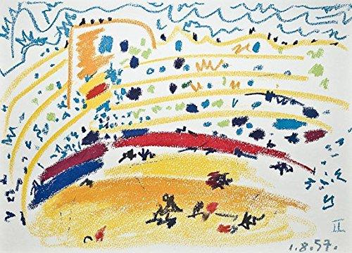 Pablo Picasso–'Toros y toreros–Vintage Offset Litografía–c1961(Mourlot/Ediciones Cercle d' Art, París)