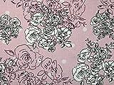 Kleiderstoff aus Viskose, Blumenmuster, Meterware, Pink