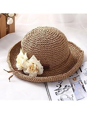 LVLIDAN Sombrero para el sol del verano Lady Anti-Sol Playa pescador sombrero color café