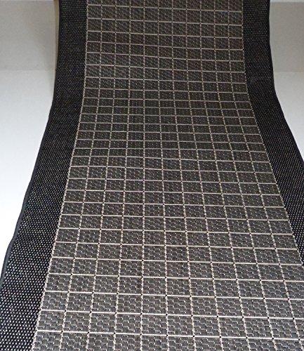 Teppichläufer rutschfest Anthrazit Meterware B/100 cm Muster