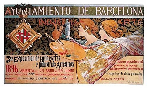 Das Museum Outlet-Alexandre de-3rd Exposicion de Bellas Artes, gespannte Leinwand Galerie verpackt. 50,8x 71,1cm Arte-dekor