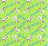 Fat Quarter Disney Frozen Olaf Dancing Toss 100%
