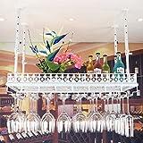 GLJ European-Style Bar Tisch weinglas Halter hängenden stemware weinregal Kopf Nach Hause Kreative weinregal Weinregale (Farbe : Weiß)