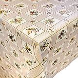 ANRO Wachstuchtischdecke Wachstuch abwaschbar Tischdecke Karo Blumen Klassik 160x140cm
