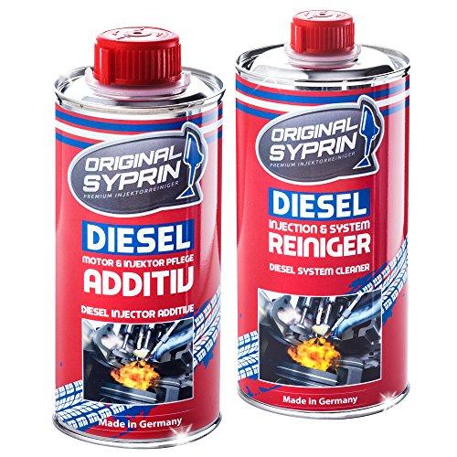 SYPRIN Original Diesel Additiv Diesel Reiniger Injektor-Reiniger Einspritzdüsen-Reiniger Diesel-Reinigung Diesel-Additive Paket Bundle
