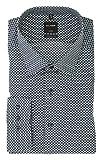 OLYMP Herren Business- und Freizeithemd mit New Kent Kragen Luxor Modern Fit Grün Muster, Grösse:37