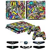 Skin Stickers para PS4 SLIM - Playstation 4 Slim Cover Set Consola...