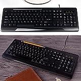 Clavier étanche câblé,usb pour ordinateur de bureau et ordinateur portable,accueil/office-A