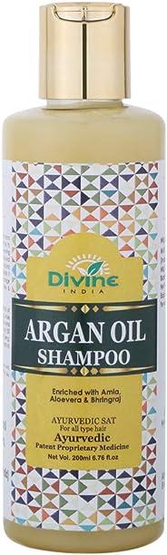Divine India Argan Oil Shampoo, 200ml