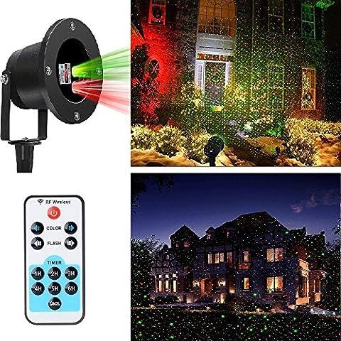LED di Paesaggio Proiettore di Illuminazione Luci Decorativo Telecomando Natale