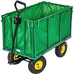 TecTake XXL Heavy duty wheelbarrow ga...