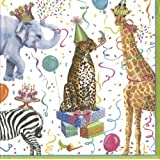 Caspari Party Animals Luncheon Napkin, Multi-Color